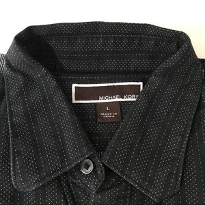 Michael Kors Dress Shirt black size large